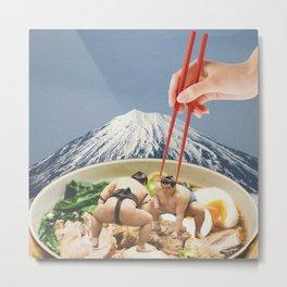 Fuji, Sumo, Ramen /// Japan Love Metal Print