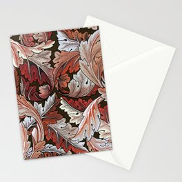 Art Nouveau William Morris Autumn Acanthus Leaves Stationery Cards
