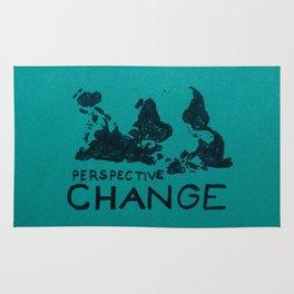 world map - perspective change Rug