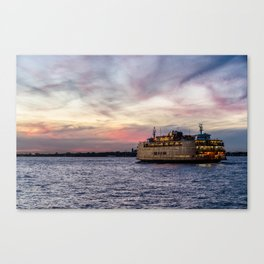 Red Sky Ferry Canvas Print
