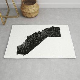 California Black Map Rug