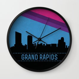 Grand Rapids Skyline Wall Clock