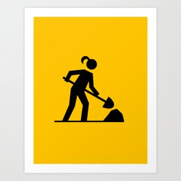 Workwoman Art Print