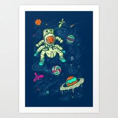 Antronaut And The Sugar Galaxy Art Print