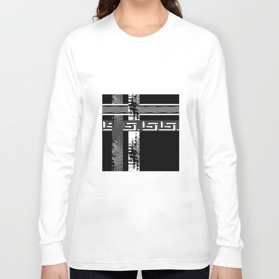 Creative Black and white pattern . The braided belts . Long Sleeve T-shirt