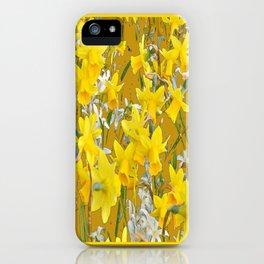 Mustard Yellow Art Golden Daffodils Garden Design iPhone Case