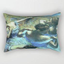 Blue Dancers by Edgar Degas Rectangular Pillow