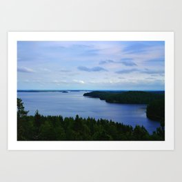 Summer Finnish Lakeland Art Print