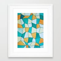 square Framed Art Prints featuring Square by sinonelineman