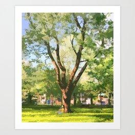Under a tree Art Print