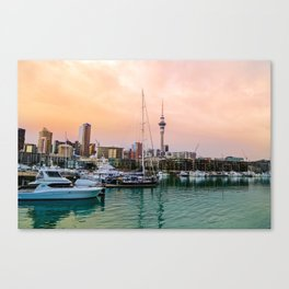 Sunset in Auckland Canvas Print