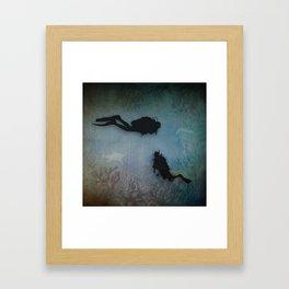 Scuba Divers Framed Art Print