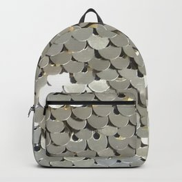 Shiny Silver Sequins Backpack