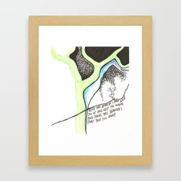Tree Poem Framed Art Print