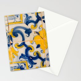 Portuguese azulejos, city of Ericeira Stationery Cards