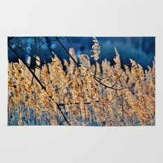 My blue reed dream - photography Rug