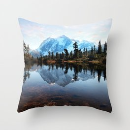 Mt Shuksan Throw Pillow