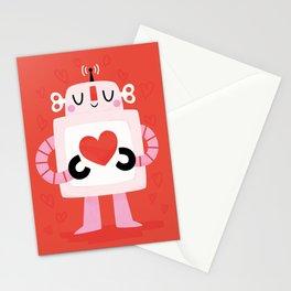 Love Robot Stationery Cards