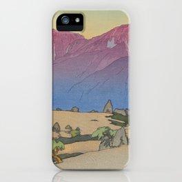Mano and Notori Mountains Hiroshi Yoshida Vintage Japanese Woodblock Print iPhone Case