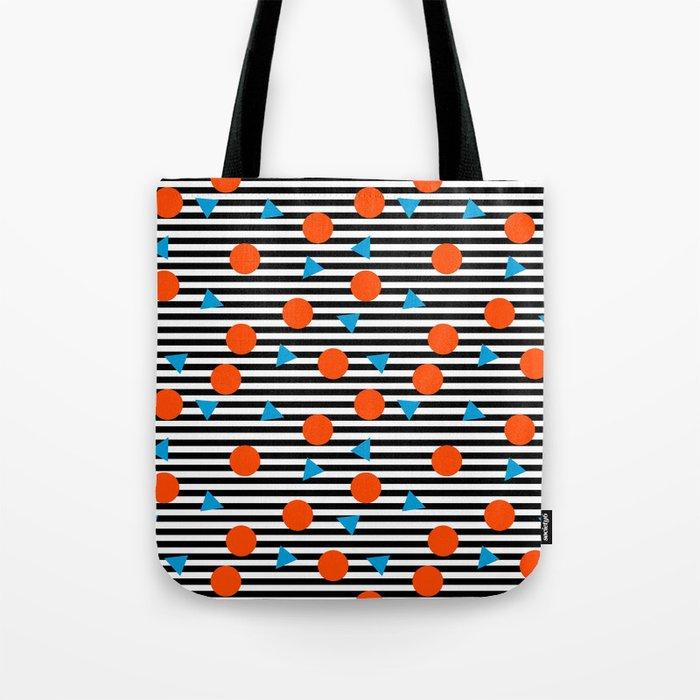 Yadda Yadda - memphis lines stripes dots triangles geometric abstract minimal print pattern wacka yo Tote Bag