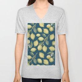 Lemon Fresh Blue Unisex V-Neck