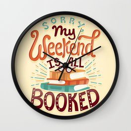 I'm booked Wall Clock