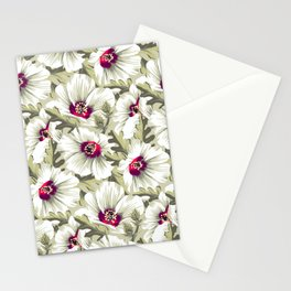 New Zealand Hibiscus Floral Print (Day) Stationery Cards