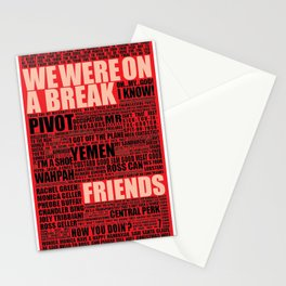 Friends (red) Stationery Cards