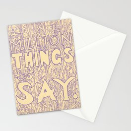 A Million Things to Say Stationery Cards