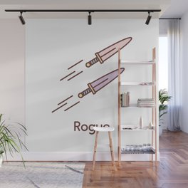 Cute Dungeons and Dragons Rogue class Wall Mural