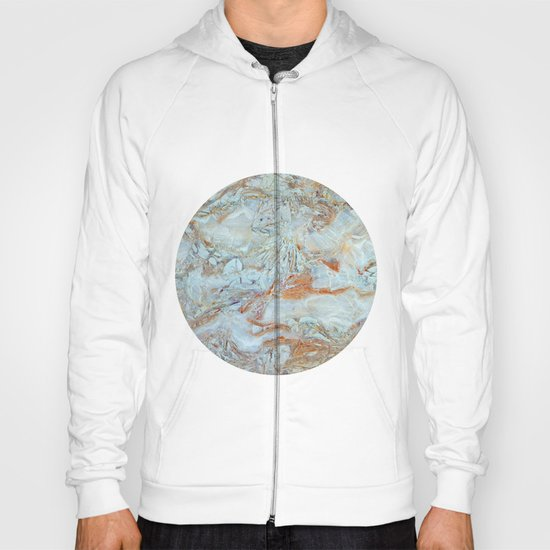 Marble in shades of blue and gold Hoody