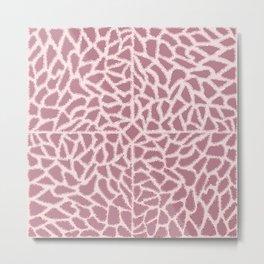 Girly Modern Pink Glitter Abstract Mosaic Geo Art Metal Print