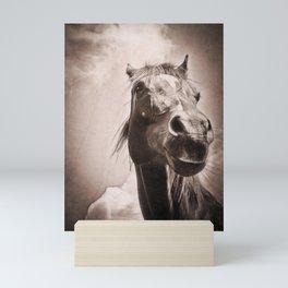Regal Arabian Horse Spring Storm  Mini Art Print