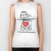sloths Biker Tanks featuring If Care Bears were sloths... by 13 Styx