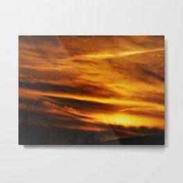 gold sky I Metal Print