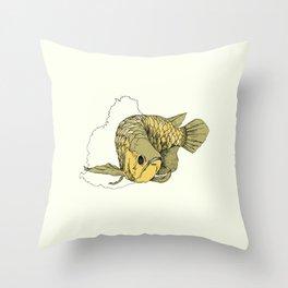 Gold Arowana Throw Pillow