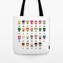 Superhero Alphabet Tote Bag