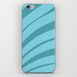 Blue Feathers iPhone Skin