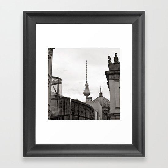 Deutsches Historisches Museum - Teletower - German Dome - Berlin Framed Art Print