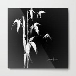 White bamboo Metal Print