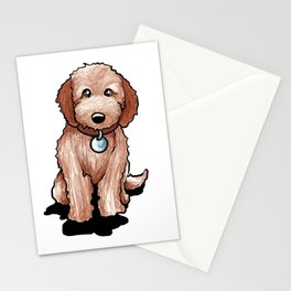 Cute Goldendoodle Puppy Gift Golden Doodle Print Stationery Cards