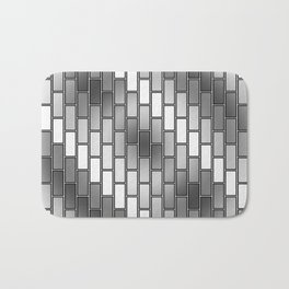 BRICK WALL #2 (Grays & White) Bath Mat