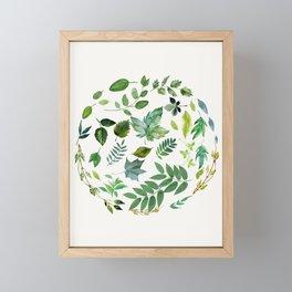 Circle of Leaves Framed Mini Art Print