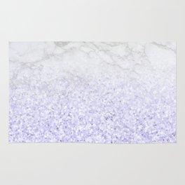 She Sparkles - Pastel Purple Glitter Marble Rug
