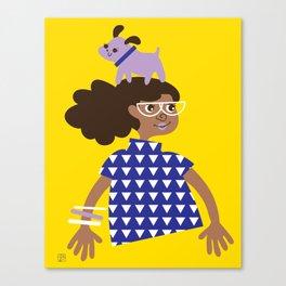 Willa Walkandroll Canvas Print