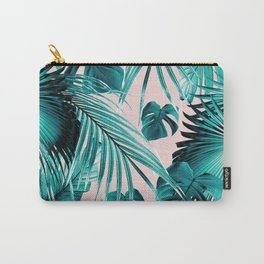 Tropical Jungle Leaves Dream #4 #tropical #decor #art #society6 Carry-All Pouch