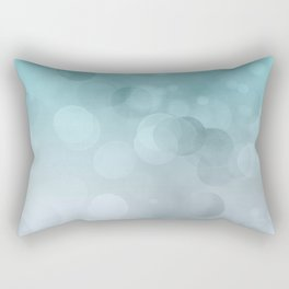 Aqua Turquoise Grey Soft Gradient Bokeh Lights Rectangular Pillow