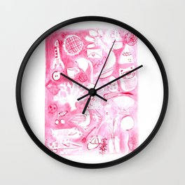 Everyday red Wall Clock