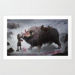 arctic war beast Art Print