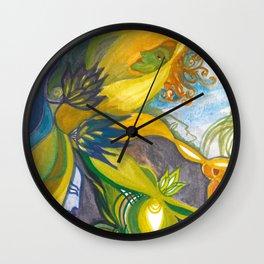 Waterlily Masquerade Wall Clock